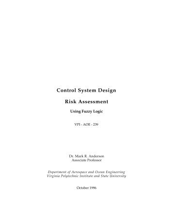 Control Design Risk Assessment - the AOE home page