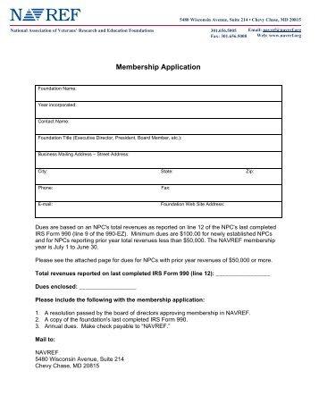 Membership Application - NAVREF