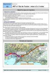 A57 à l' Est de Toulon : mise à 2 x 3 voies