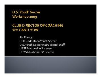 Ric Plante DOC – Montana Youth Soccer U.S. Youth Soccer ...