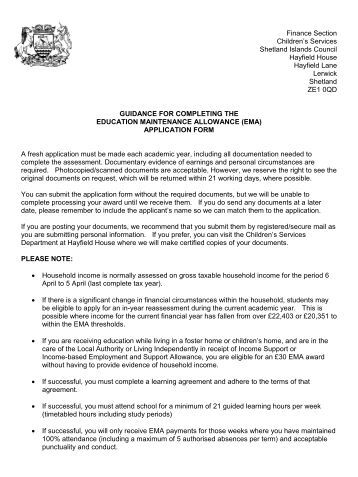 continuing education allowance application form