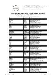 Liste der SASEG Mitglieder / List of SASEG members
