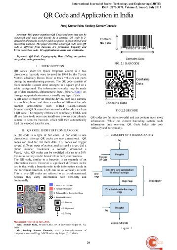 QR Code and Application in India - International Journal of Recent ...