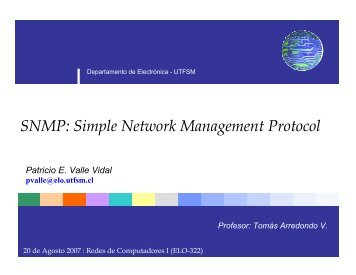 SNMP: Simple Network Management Protocol