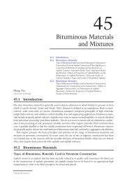 Chapter 45: Bituminous Materials and Mixtures - Index of - Free