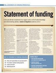 TKU: STATEMENT OF FUNDING PRINCIPLES - Engaged Investor