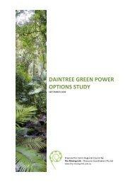 Daintree Green Power Options Study - Cairns Regional Council ...