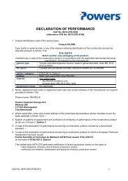 DECLARATION OF PERFORMANCE