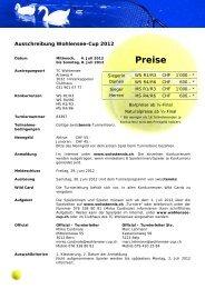 Preise - Wohlensee-Cup