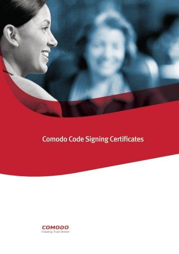 Comodo Code Signing Certificates - SSL Certificate