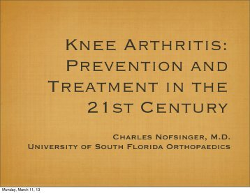 Knee Arthritis - USF Health in The Villages - University of South Florida