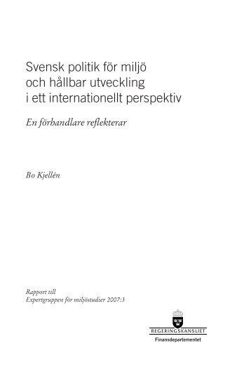 Svensk politik för miljö och hållbar utveckling i ett internationellt ...