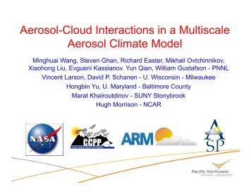 Aerosol-Cloud Interactions in a Multiscale Aerosol Climate ... - cmmap