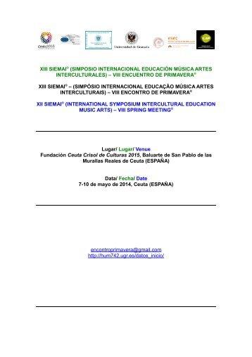 Hoja de Inscripción/Ficha de Inscrição - Ciudad Autónoma de Ceuta