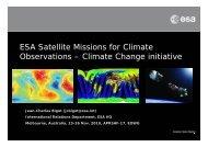 ESA Satellite Missions for Climate Observations – Climate ... - aprsaf
