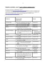 """Inhaltsverzeichnis """"texte"""" nach Artikeln (alphabetisch)"""