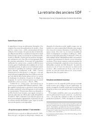La retraite des anciens SDF - Annales de la Recherche Urbaine