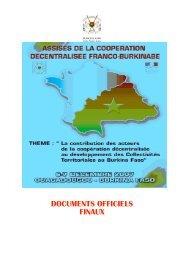 Actes des Assises - Cités Unies France