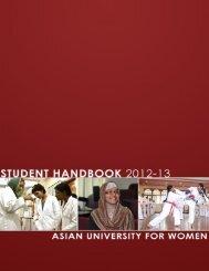 Student Handbook - Asian University for Women