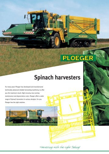 Spinach harvesters