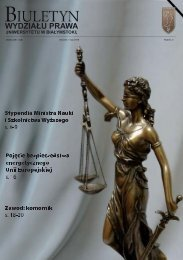 Kwiecień - Maj 2010 - Wydział Prawa Uniwersytetu w Białymstoku