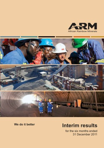 Interim results for the six months ended 31 December 2011 - ARM
