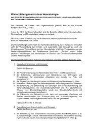 Curriculum Neonatologie - Klinikfinder.de