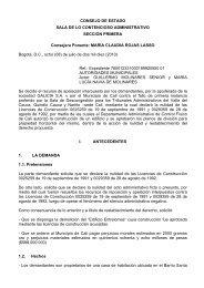 CONSEJO DE ESTADO SALA DE LO CONTENCIOSO ... - Camacol