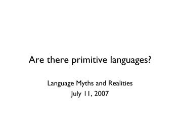 Are there primitive languages?