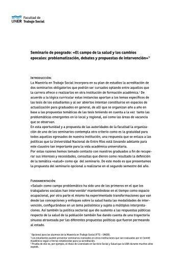 Consultar propuesta completa - Facultad de Trabajo Social ...
