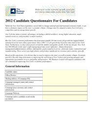 2012 Candidate Questionnaire for Candidates - The Business Council