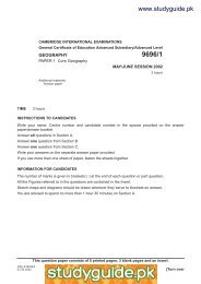 9696/1s02 Geography - StudyGuide.PK