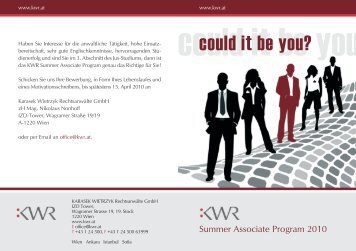 could it be you - KWR
