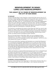 REDEVELOPMENT IS DEAD! LONG LIVE REDEVELOPMENT!