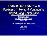 Partners in Home & Community Based Long Term Care - National ...