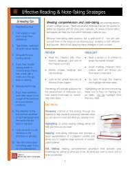 Effective Reading & Note-Taking Strategies