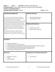 Grade 7 Unit 1 Lesson Plans.doc - East Aurora School District #131