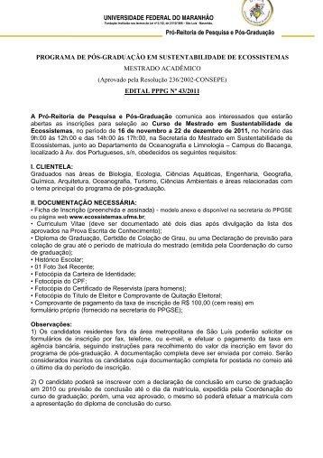 UNIVERSIDADE FEDERAL DO MARANHÃO PROGRAMA DE PÓS ...