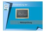 Vorbereitung der ... ... Abiturprüfung - Rudolf-Koch-Schule