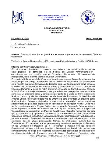 Sesión - Universidad Centroccidental Lisandro Alvarado