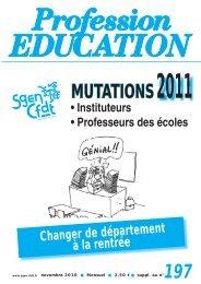 Profession Éducation - Sgen plus