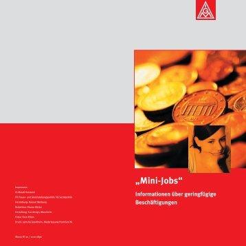 """Mini-Jobs"" PDF - IG Metall"