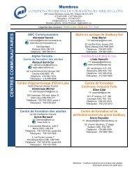 Télécharger la liste des coordonnées de tous nos centres de formation
