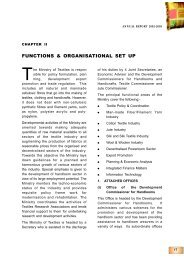 FUNCTIONS & ORGANISATIONAL SET UP - Ministry of Textiles