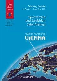 Download ESPEN Vienna 2009 Sales Manual