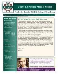 Cache La Poudre Middle School - Poudre School District