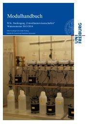 Aktuellles UNW-Modulhandbuch WS 2013/14 Prüfungsordnung ...