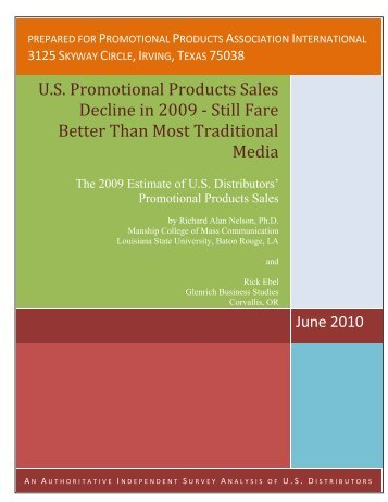 U.S. Promotional Products Sales Decline in 2009 ‐ Still Fare ... - PPAI