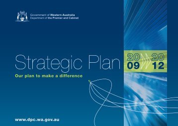 Strategic Plan 2009-2012 - Department of the Premier and Cabinet