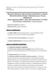 Warszawa: Wykonanie robót remontowo-budowlanych w budynku ...